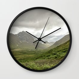 Overcast Valley Wall Clock