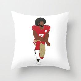 Kneeling Kaepernick Throw Pillow