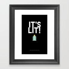 Lit Christmas Framed Art Print