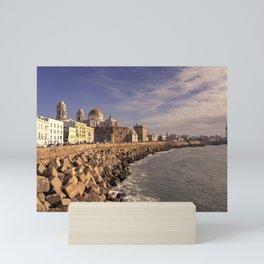 Cadiz Cathedral Seascape  Mini Art Print