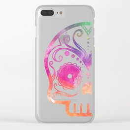 "Custom Design Modern Sugar Skull (""Calavera"") Clear iPhone Case"