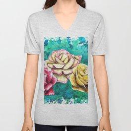 Three Roses Unisex V-Neck
