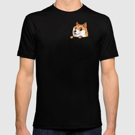 Pocket Shibe (Shiba Inu, Doge) T-shirt