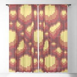 Lava Stone Print Sheer Curtain