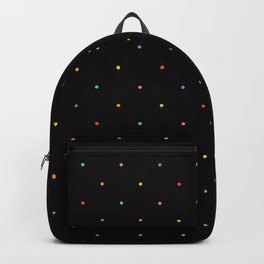 Happy Dots on Black Backpack