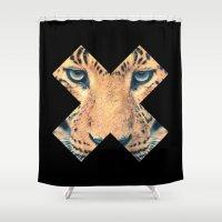 leopard Shower Curtains featuring Leopard by Zavu