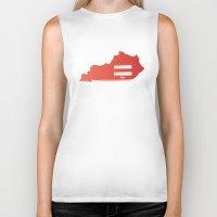 kentucky Biker Tanks featuring Kentucky Love by Tank Top Sunday