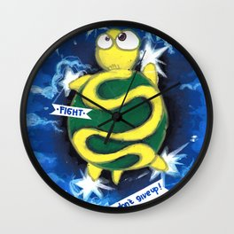 turtle dream walking in the sky Wall Clock