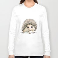 hedgehog Long Sleeve T-shirts featuring Hedgehog by Bwiselizzy