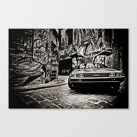 delorean Canvas Prints featuring Delorean by SIMid