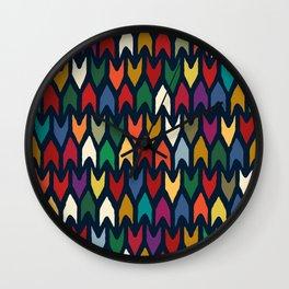 christmas arrows indigo Wall Clock