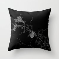 darwin Throw Pillows featuring Darwin map Australia by Line Line Lines