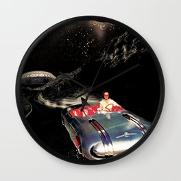 Lady Spacecar Wall Clock
