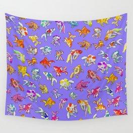 Aquarium Ultraviolet Wall Tapestry