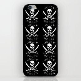 jolly-roger-pattern iPhone Skin