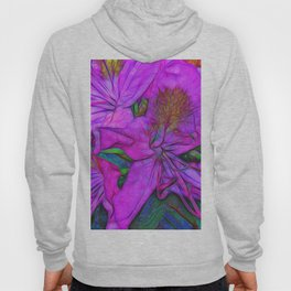 Rhododendron Fuscia Pink Hoody
