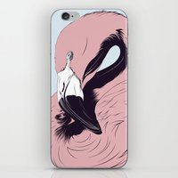 flamingo iPhone & iPod Skins featuring Flamingo by CranioDsgn