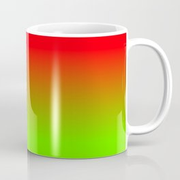 Neon Red and Neon Green Ombré  Shade Color Fade Coffee Mug