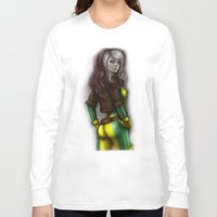 rogue Long Sleeve T-shirts featuring Rogue v1 by Hallowette