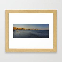 Piramides Naranja Framed Art Print