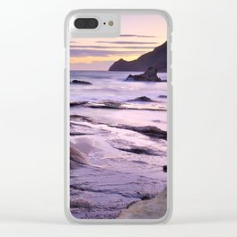 Purple Sunset At Vela Blanca Tower Clear iPhone Case