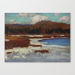 Tom Thomson The Marsh, Early Spring 1916 Canadian Landscape Artist Canvas Print