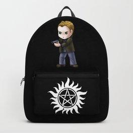 Chibi Dean Winchester (Black BG) Backpack