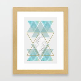 Triangle Art Framed Art Print