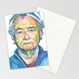 Bill Murray Watercolor Portrait Stationery Cards