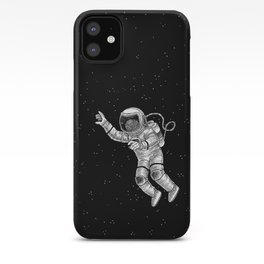 Astronaut in the outer space iPhone Case