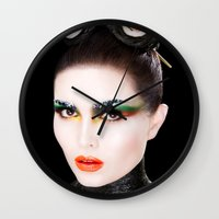 sushi Wall Clocks featuring Sushi by Karla Powell