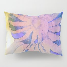 NAUTILUS SEA SHELL BLUE AND PURPLE IMPRESSIONS Pillow Sham