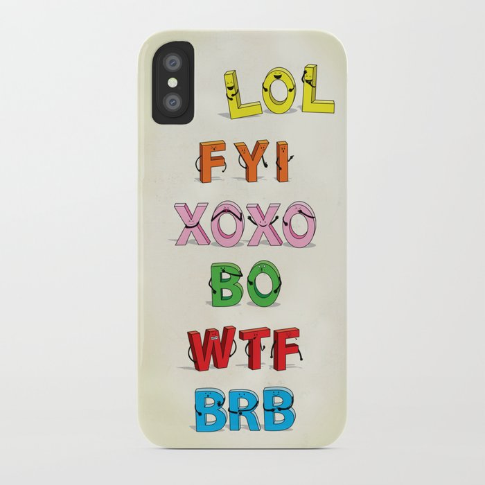 Some Internet Abreviations iPhone Case