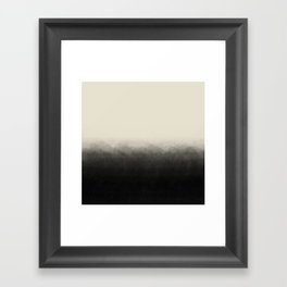 Fade to Black Mountains Framed Art Print