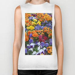 Pancy Flower 2 Biker Tank