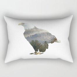 Eagle Mountain Silhouette Rectangular Pillow