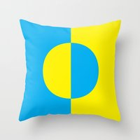 psychology Throw Pillows featuring Psychology of Color I by Jessica Lea Dunn