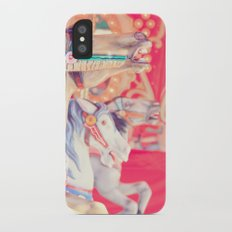 Pink Carousel Horse Slim Case iPhone X