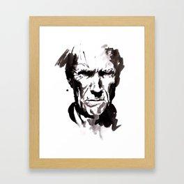 clint face Framed Art Print