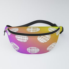 DP036-3 rainbow dotted Fanny Pack