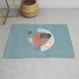 Crossing hearts - abstract composition Rug