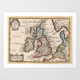 Vintage Map of The British Isles (1659) Art Print