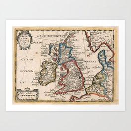 Vintage Map of The British Isles (1659) Art Print
