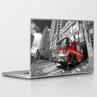 truck Laptop & iPad Skins featuring Fire Truck  by Rob Hawkins Photography