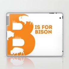 B is for Bison - Animal Alphabet Series Laptop & iPad Skin