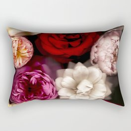 Pink, White, and Red Roses Rectangular Pillow