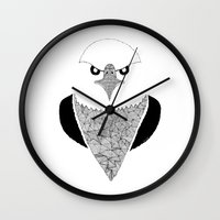 eagle Wall Clocks featuring Eagle by Art & Be