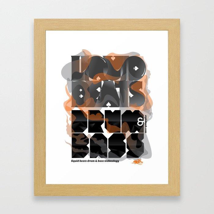 Liquid Beats Framed Art Print