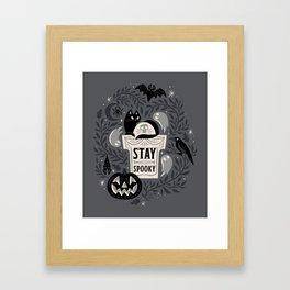 Stay Spooky Framed Art Print