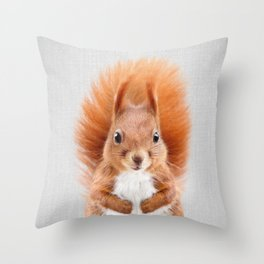Squirrel 2 - Colorful Throw Pillow
